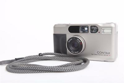 Excellent Contax T2 35mm Point & Shoot Film Camera + New Battery from Japan -6-