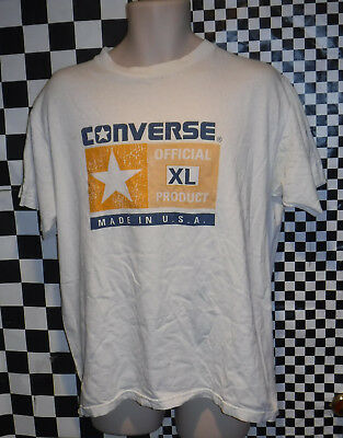 Vintage 1990's Converse T Shirt Size Large Made In Usa L@@k