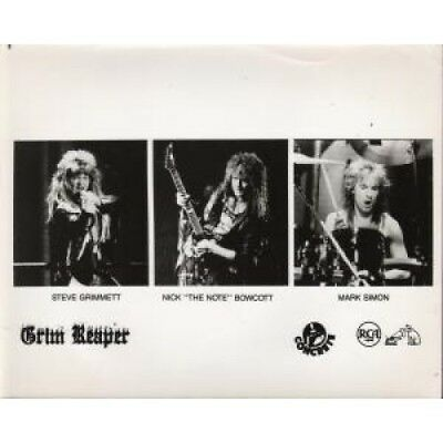 NWOBHM GRIM REAPER 3 Separate Shots PHOTOGRAPH US Rca Black And White Promo