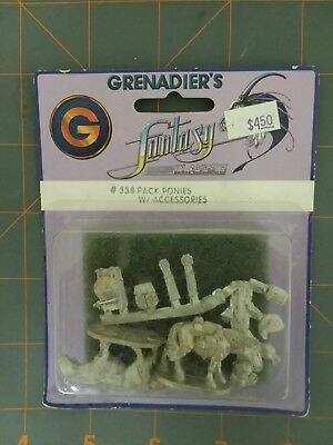 Grenadier Models Fantasy Classics #338Pack Ponies w/Accesories  new/sealed