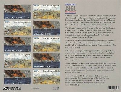 The Civil War 1861,  #4522-23Sheet Of 12 Forever Stamp S000562