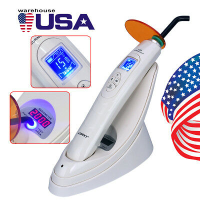 USPS Dental Wireless LED Curing Light Lamp YC886-2 with Light Test Meter 1800mw