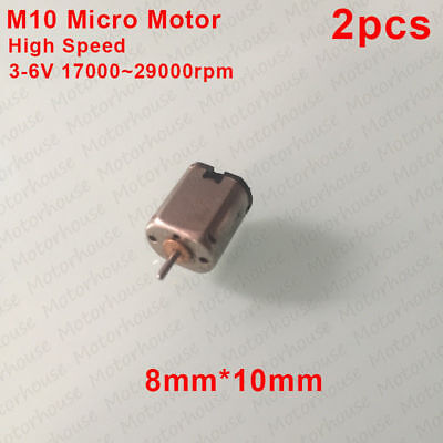 8Pcs DC3V 3500RPM Model Aircraft 6x12mm Hollow Cup Magnetic High-speed Motor