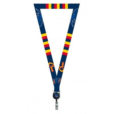 Adelaide Crows Official AFL Lanyard, Detachable Keyring Retractable ID Holder