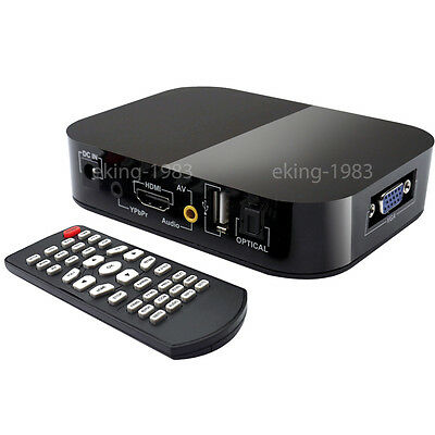 FULL HD 1080P Media Player TV BOX HDMI USB SD/MMC MKV 2TB multimedia Festplatte