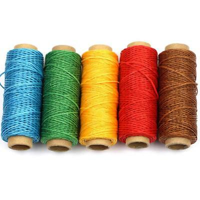 50M 150D 1mm Leather Sewing Flat Waxed Thread Wax String Hand Stitching Craft·