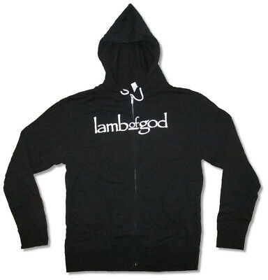 Lamb Of God-Blue Sturm Und Drang-X-Large Black Zip Up Hooded Sweatshirt