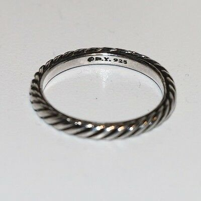AUTHENTIC DAVID YURMAN Sterling Silver Cable Classics Band Ring Size 7