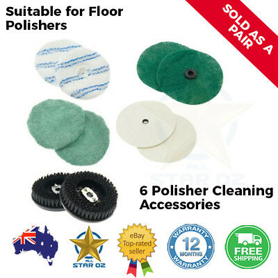 Floor Polisher Scrubber Pads Scouring Cleaning Buffer Microfibre Finishing Pad