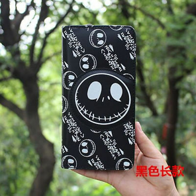 New Fashion Nightmare Before Christmas Jack Skellington Wallet Purse black Long
