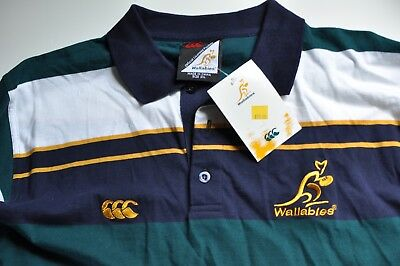 Wallabies official licensed union green rugby shirt mens 2XL