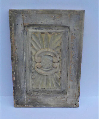 "SPANISH COLONIAL ANTIQUE WOODEN DOOR PANEL OLD MEXICO 24 3/8 x 16 3/4 x 1 1/2"" e"