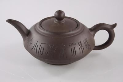 Vintage Chinese Yixing Zhisha Teapot Multiple Stamps