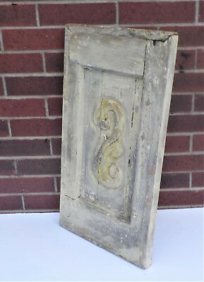 "SPANISH COLONIAL ANTIQUE WOODEN DOOR PANEL OLD MEXICO 27 3/4 x 15 1/8 x 1 1/2"" h"