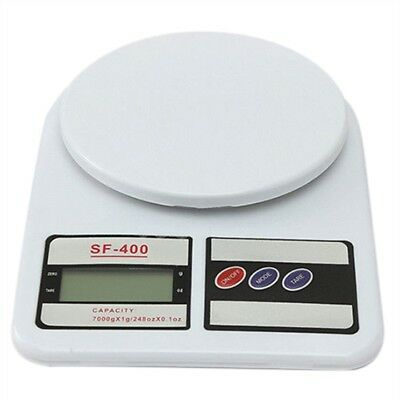 7 Kg/1g LCD Digital Kitchen Scale Weigh Accurate Dessert Fruit Weight, Whit S7F2