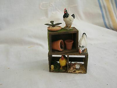 dolls house miniatures - chickens