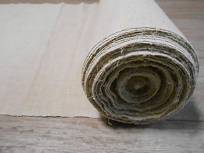 Antique Homespun Thin Fabric Hemp&Cotton mix 0,6x19,5m 1930s  Great condition