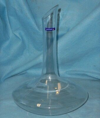 New Luminarc Crystal Ships Bottle ~ Wine / Liquor Decanter ~ Made in France