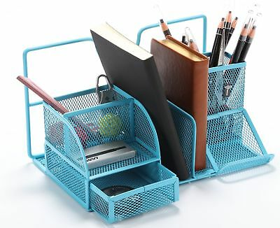 Vencer Desktop Office Supplies Caddy With File Stand Functional Organizer New