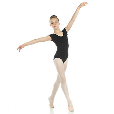 Danzcue Child Cotton Short Sleeve Ballet Cut Leotard