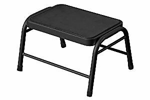 Metal Step Stool, 25 x 43 x 35 cm - Black