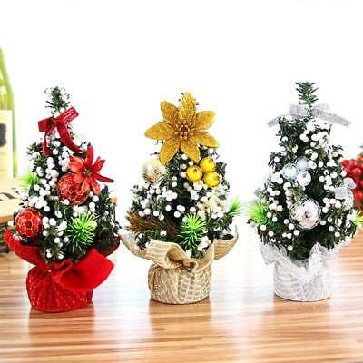 20cm Mini Christmas Ornaments Festival Party Xmas Tree Table Desk Decoration