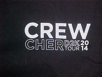 "Cher 2014 ""Dressed To Kill"" Local Crew Black T-Shirt (XL) Brand New"