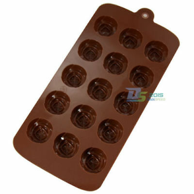 15 Holes Mini Roses Silicone Soap Chocolate Cookies Ice Cube Pastry Baking Tools