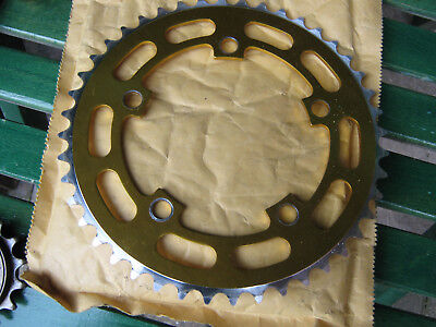 "Old School BMX 5 Bolt Single Speed Chainring 1/2"" x 1/8"" 44T 110 BCD"