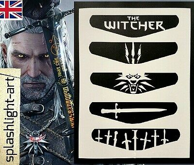 The Witcher 3 PS4 Controller Light bar 5x Vinyl Sticker Decal PlayStation 4 LED