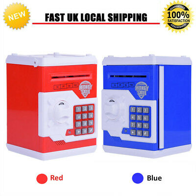 New Mini Password Piggy Bank Cash Coins Money Safe Box Lock Kids Toy Xmas Gift