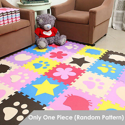 Interlocking Soft EVA Foam Play Mat Pad Patterned Baby Kids Crawling Puzzle Game
