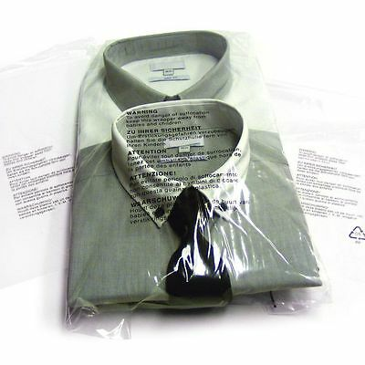 Clear Garment Clothing bags 5 language warning notice protective packaging
