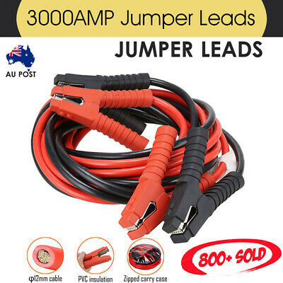 3000AMP Jumper Leads 6M Long Surge Protected Heavy Duty Car Jump Booster Cables