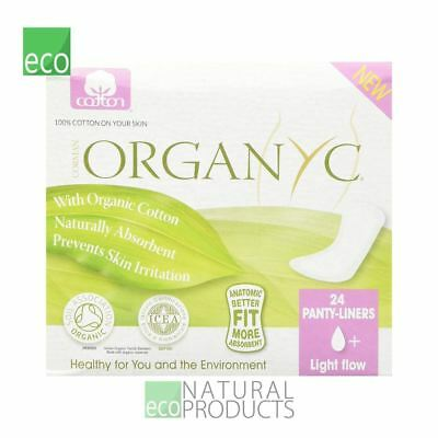 Organyc Cotton Panty-liners Light Flow Individually wrapped Box of 24