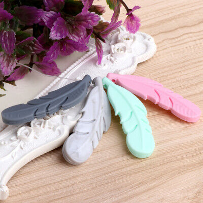 Nursing Feather Pendant Baby Teether Silicone Soother Teething Necklace Chew Toy