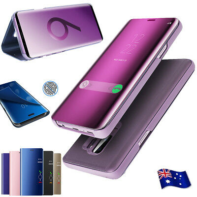 Luxury Clear S-View Mirror Flip Case For Samsung Galaxy Note8 S9/S8+ Stand Cover