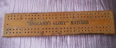 'England's Glory' Matches, Olden Time Wooden Cribbage Board