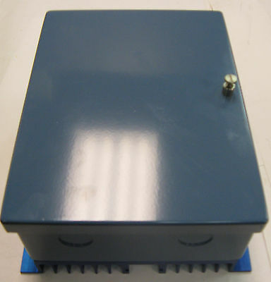 """Gardner Blue Steel Enclosure with Back Heat sink 2.5"""" x 6"""" x 8""""  2 Knockouts"""