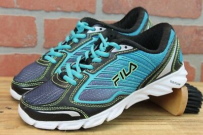 8ae84cd0c764 FILA RUNNING SHOES Womens Size 6.5M Blue Teal Black Coolmax -4610 ...