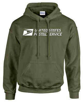 USPS POSTAL HOODIE #2 Hooded Sweatshirt Logo on Chest United States Service MIL