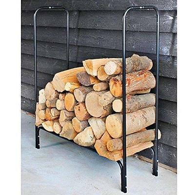 Log Storage Rack Stand Storage Outdoor Rain And Snow Protecting Cover - Black
