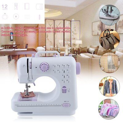 Multifunction Electric Overlock Sewing Machine Household Sewing 12 Stitches MA