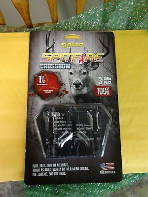 spitfire crossbow. nap spitfire for crossbow broadheads,1 1/2 cut 3-blade
