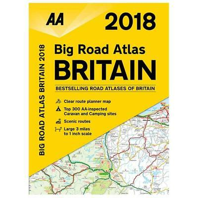 AA 2018 Big Road Atlas Britain Map A3 Paperback Large Scale (78541)