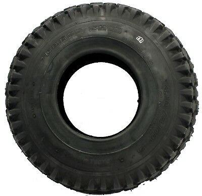 New 4.10 x 3.50 x 4 Tire, Stud 2 Ply Tire - 4.10x3.50x4