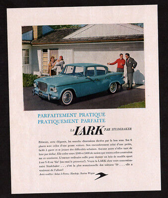 1959 STUDEBAKER Lark Vintage Original Print AD - Blue car photo sedan 4-door