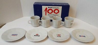 Mobil Mobiloil Mobilgas Celebrates 100 years in Singapore Commemorative Tea Set
