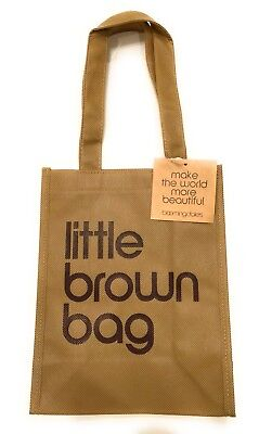 NWT Bloomingdales Little Brown Reusable Bag Canvas FREE SHIPPING!!!