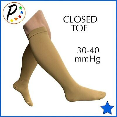 Presadee Closed Toe BIG TALL Extra Wide Calf Leg 20-30 mmHg Compression Socks
